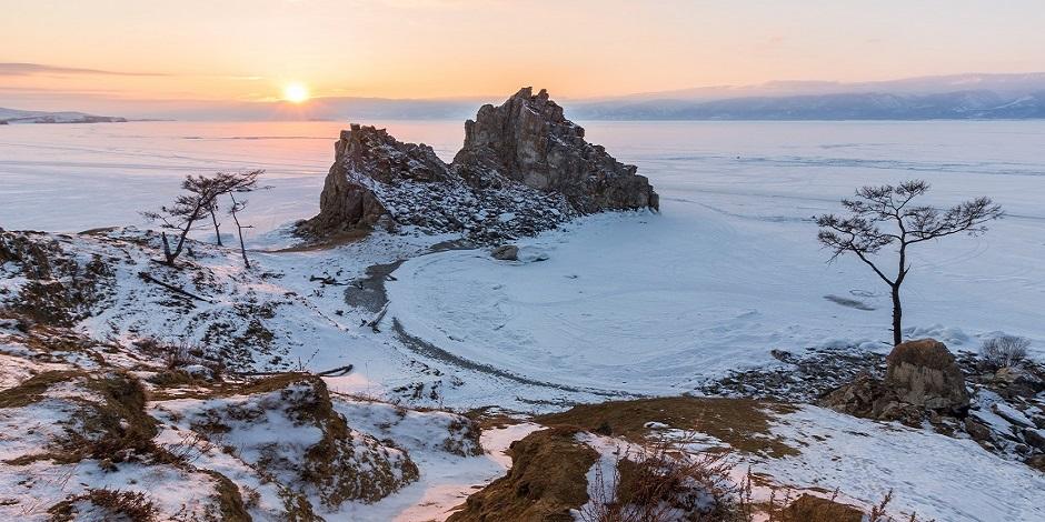 Lac Baikal Hiver