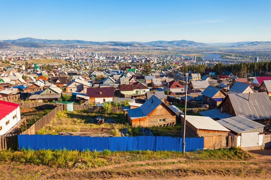 Vue panoramique sur Ulan Ude