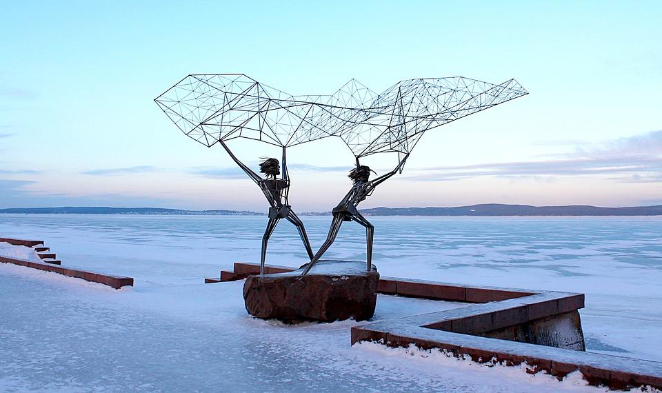 Sculptures sur Lac Onega